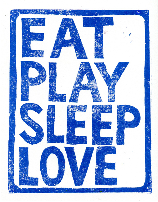 Eat play sleep love web