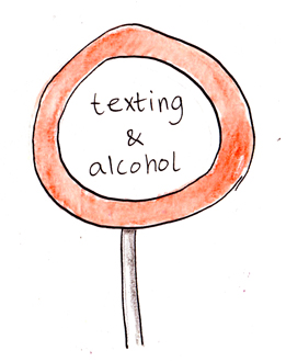 Texting and alcohol dont mix web