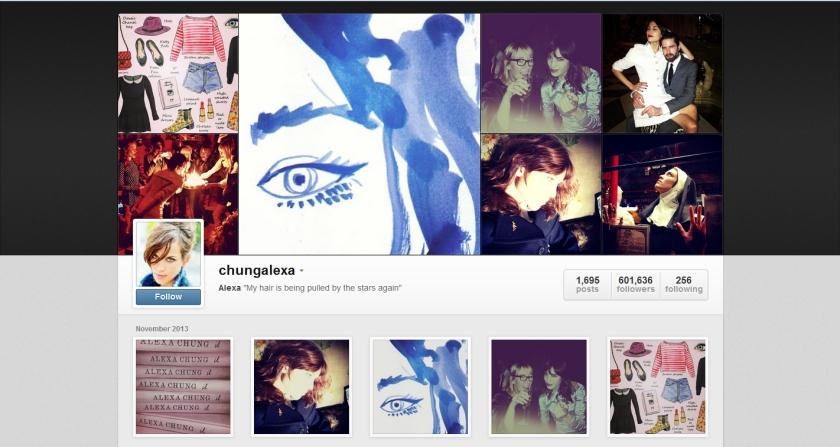 Alexa Chung instagram 13-11-13