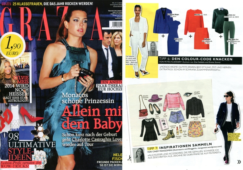 Mangomini featured in German Grazia 2014