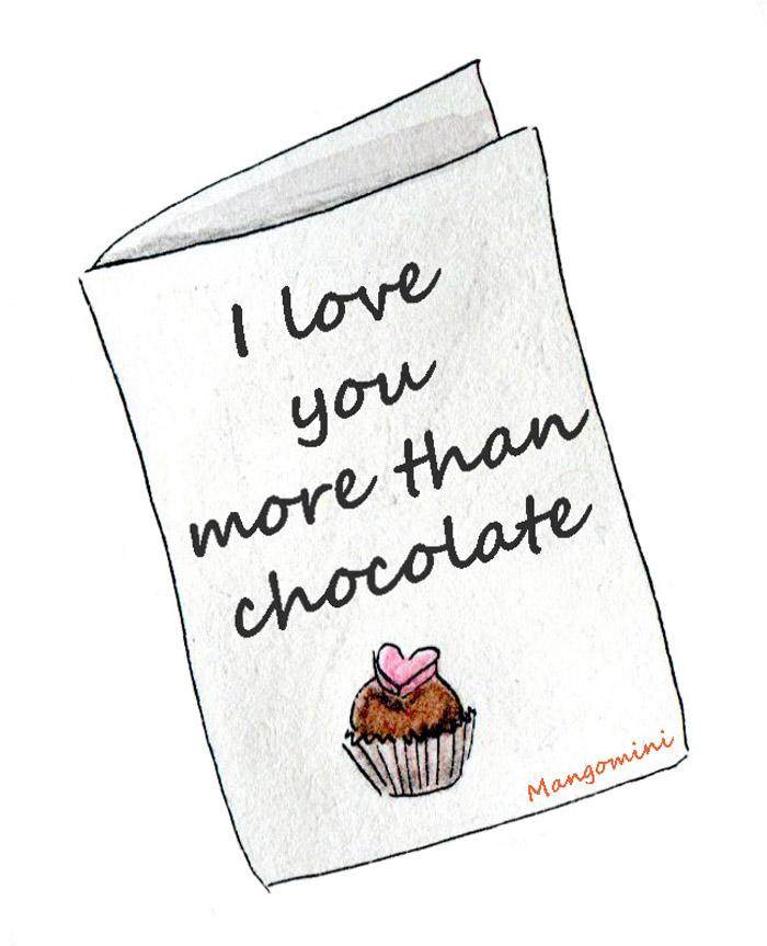 Valentine card by Mangomini