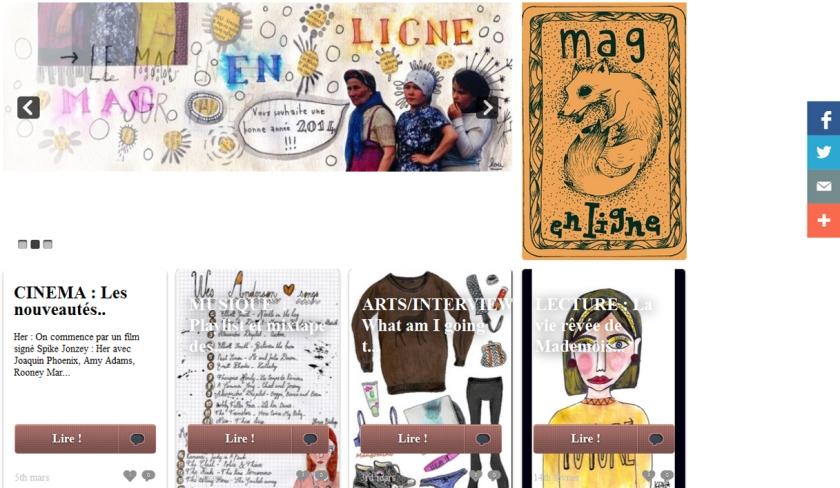 Mag en Ligne -Mangomini feature