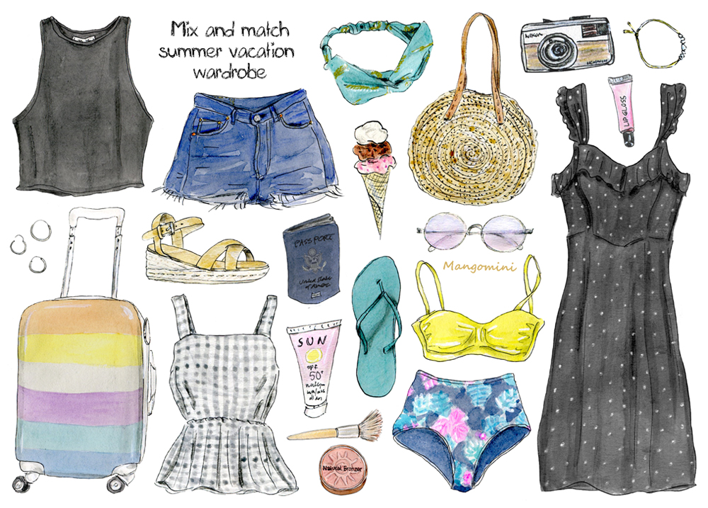 Summer vacation wardrobe Mangomini Hello Giggles
