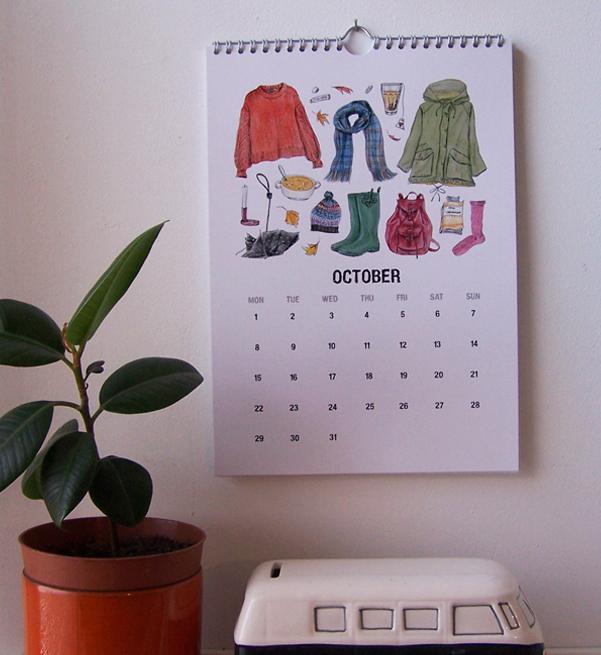 2018 calendar okt Etsy low