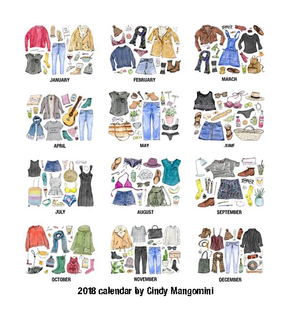 2018 kalender prenten overzicht