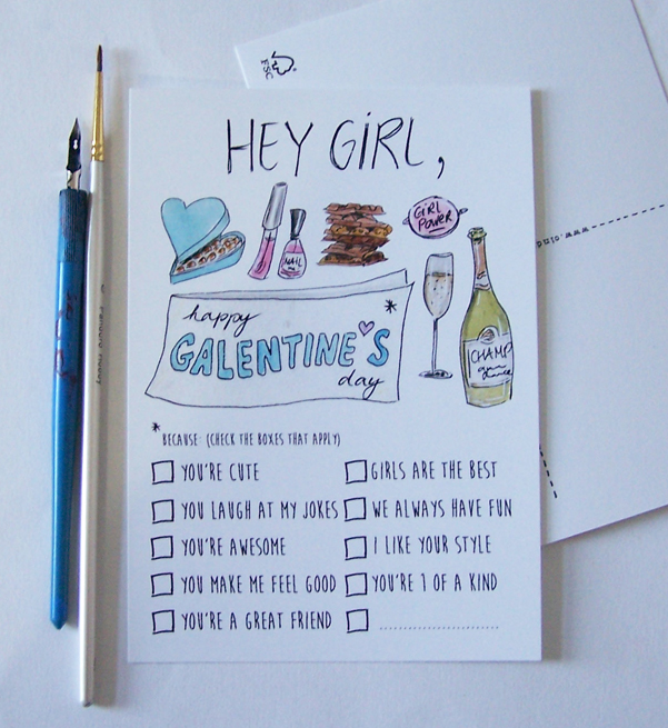 Hey girl galentine photo mangomini Etsy