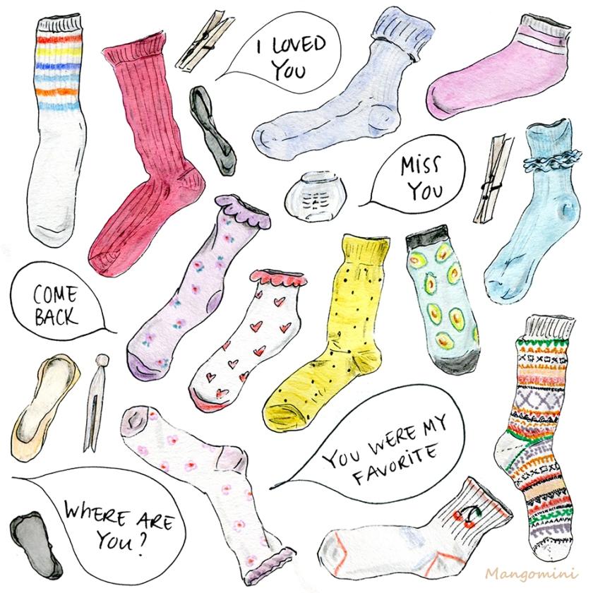 Lost Sock Memorial Day Cindy Mangomini HG