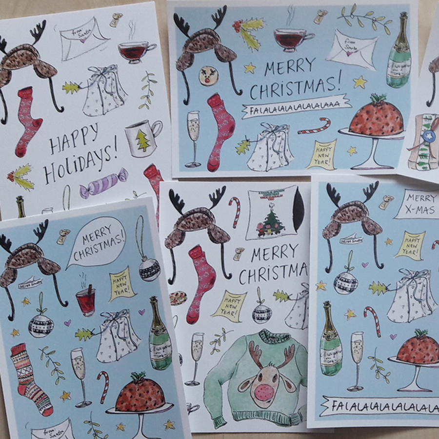 Mangomini xmas cards mix