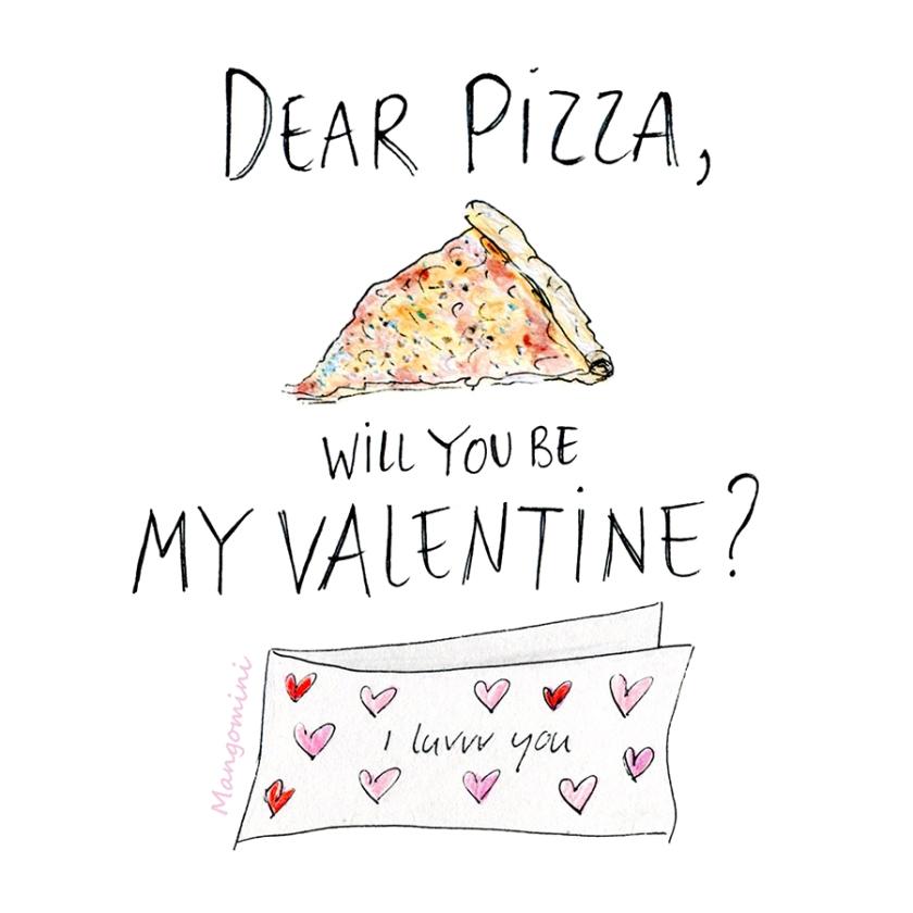 Pizza valentine Mangomini