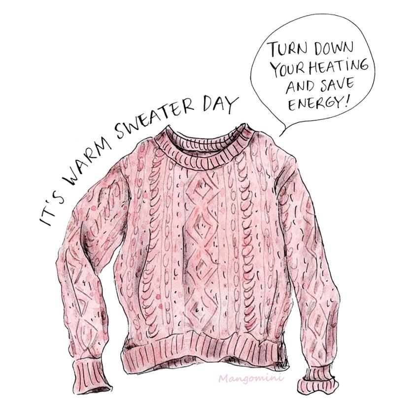 warm sweater day mangomini insta