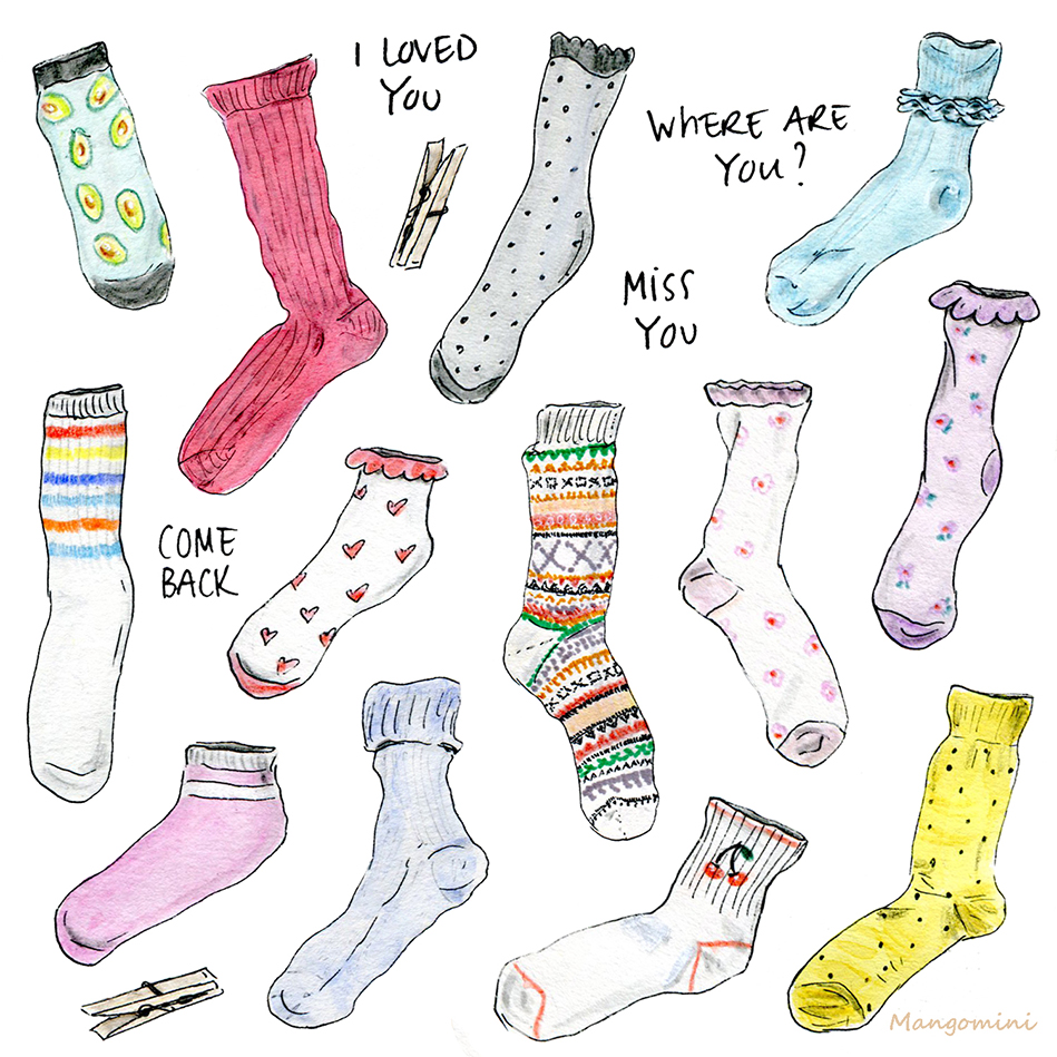Lost Sock Memorial Day Cindy Mangomini