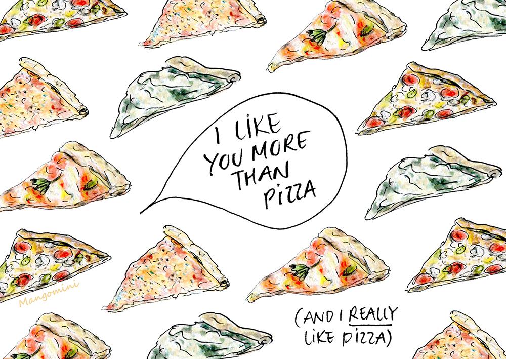 like more pizza Mangomini