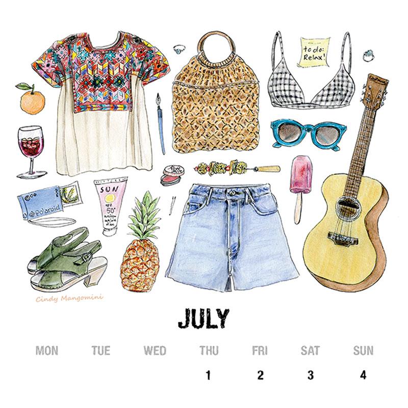 2021 July Calendar Page NR Mangomini
